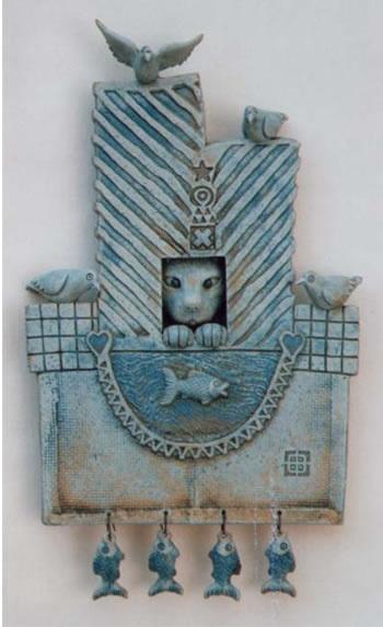 Contemporary ceramic artwork by Neil and Sally