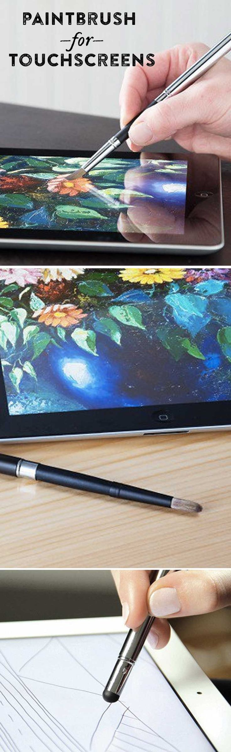 This digital paintbrush truly captures the tactile experience of painting—it's like a stylus for artists.