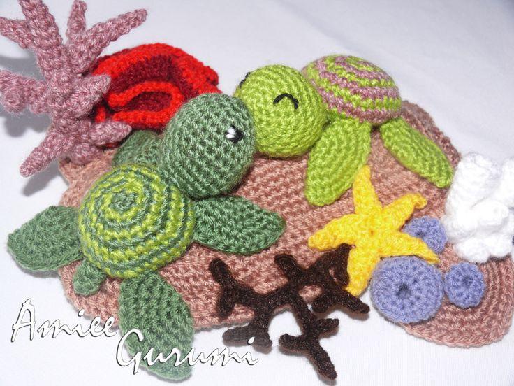Horgolt szerelmes teknős pár / Crochet Turtle Couple