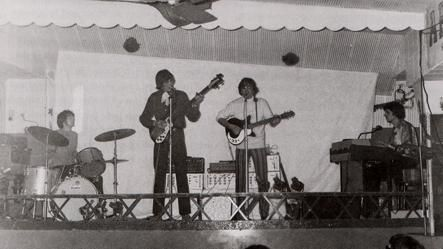 The Pink Floyd performs at the opening night of UFO, December 23, 1966