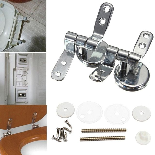Alloy Replacement Toilet Seat Hinges Mountings Set Chrome With Fittings Screws For Toilet Accessories Review Toilet Accessories Toilet Seat Hinges Wooden Toilet Seats