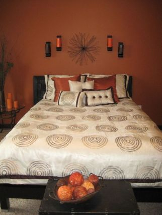 30 stunning orange bedroom decorating ideas for modern house rh pinterest com