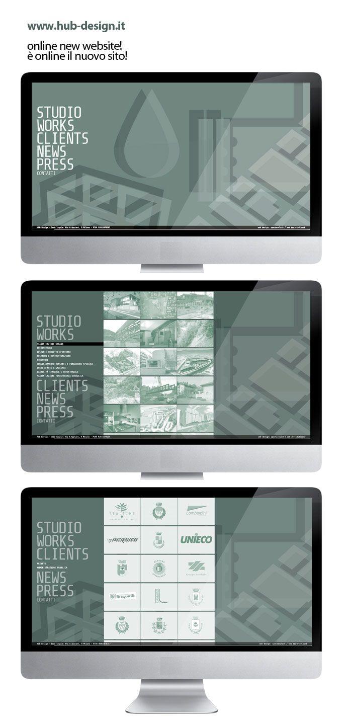 new website online / design #spectacularch development #studioand http://www.hub-design.it/