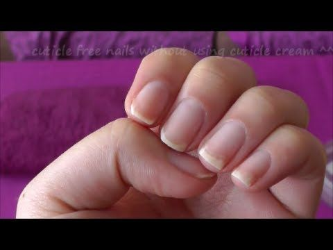 remove nail cuticle without using cuticle remover/professional tools...not recommended but works