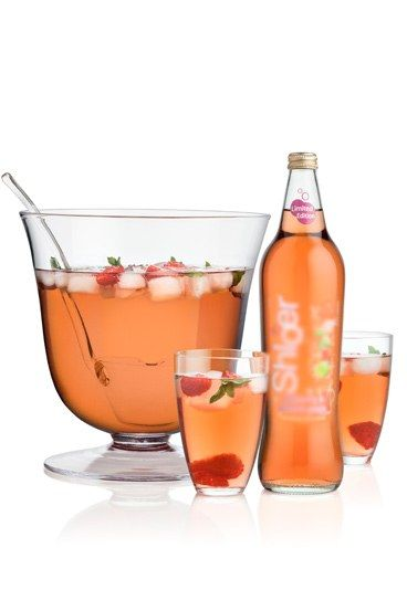 Raspberry and Rhubarb Punch - Non-alcoholic punch recipes: Perfect for parties