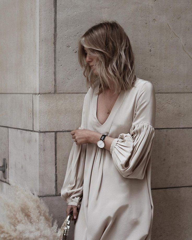 Nude silk dress — Damoy
