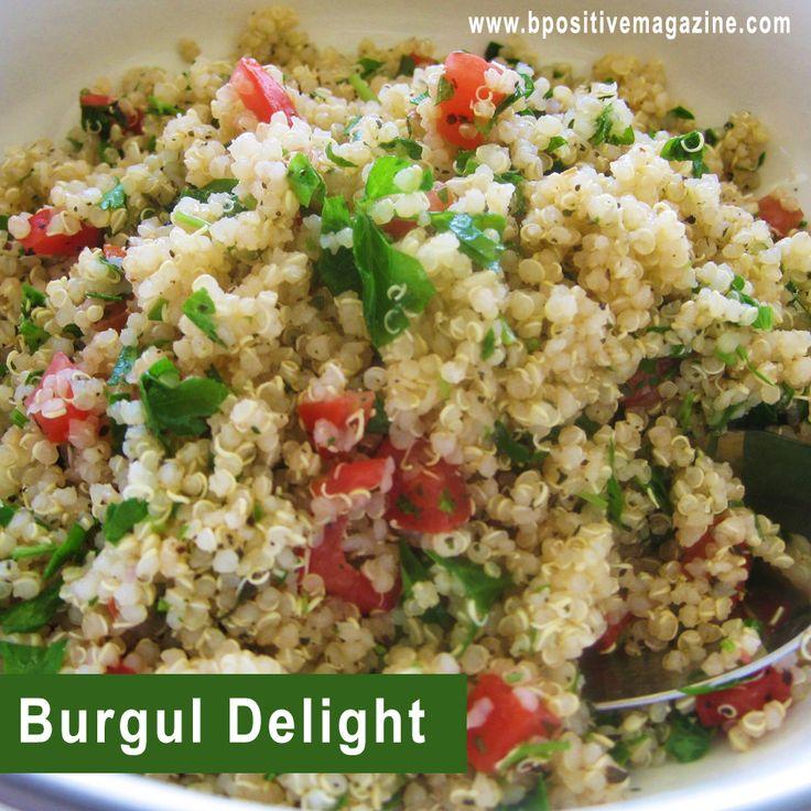 Make #Bulgur Delight Delicious #Recipe at home using Healthy Ingredients. #RecipeOfTheDay