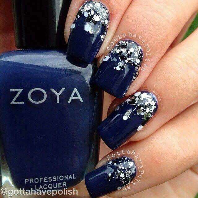 For Prom Blue Nail Ideas: 25+ Best Ideas About Dark Blue Nails On Pinterest