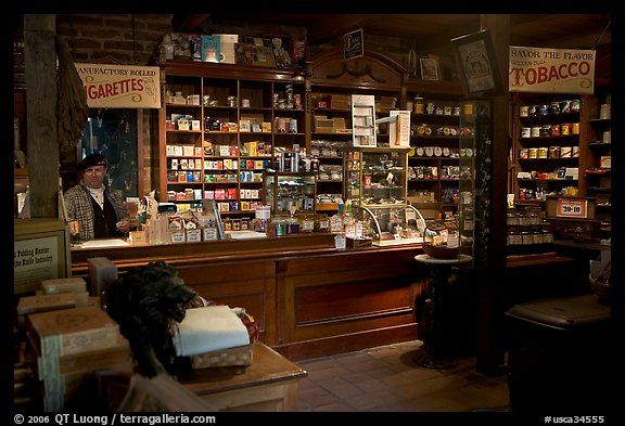 Tobacco shop, Old Town. San Diego, California, USA