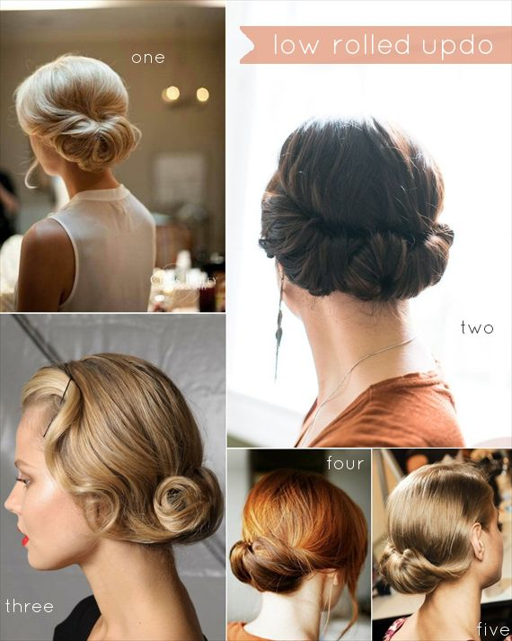 Low Rolled Updo aka Gibson Tuck Hairstyle