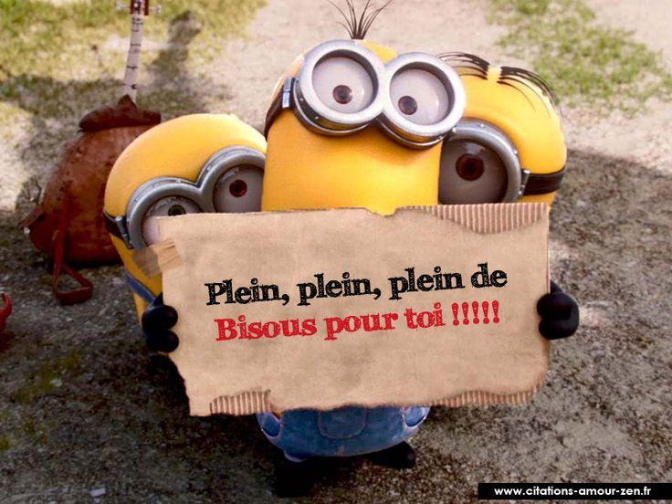Les 73 meilleures images du tableau bisous sur pinterest bisous bonjour et messages - Minion amoureux ...