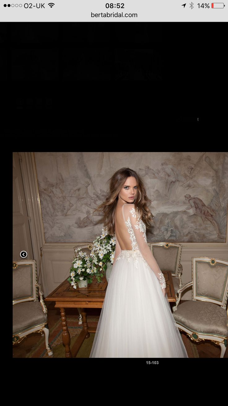 Berta bridal illusion neckline