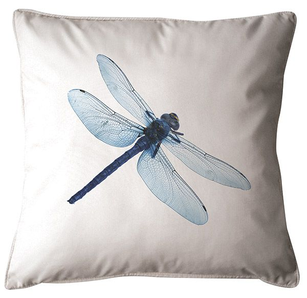 Dragonfly Cushion. 100% Organic Cotton and comes with a plush filler. Only $45 with Free Shipping! http://www.stoolsandchairs.com.au/dragonfly -cushion/
