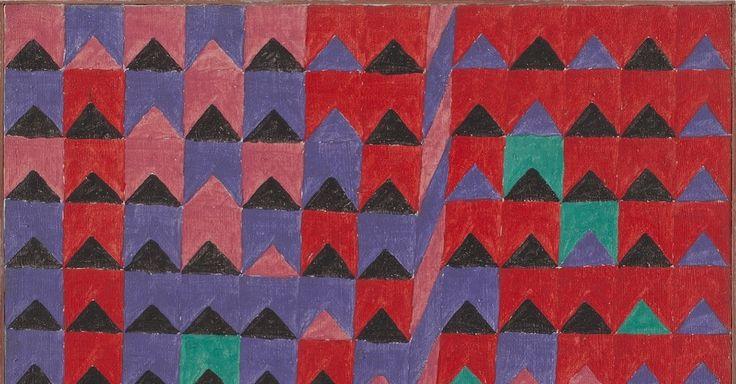 Série Bandeirinhas e Mastros. Década de 1960. Alfredo Volpi (1896-1988). Artista ítalo-brasileiro.