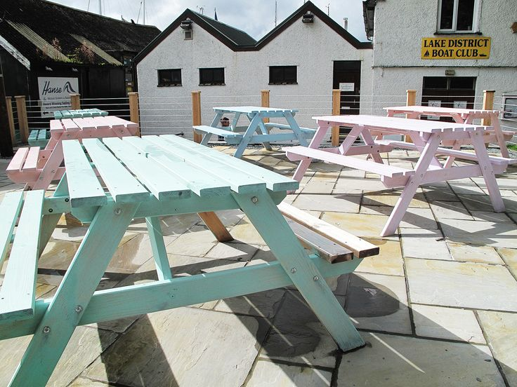 Pastel Outdoor Bench, Lake District, 2011