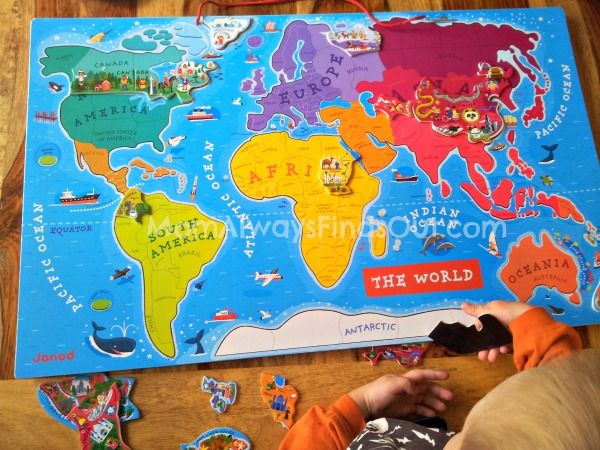 Best World Map Puzzle Ideas On Pinterest Boys Airplane - Magnetic us map puzzle janod