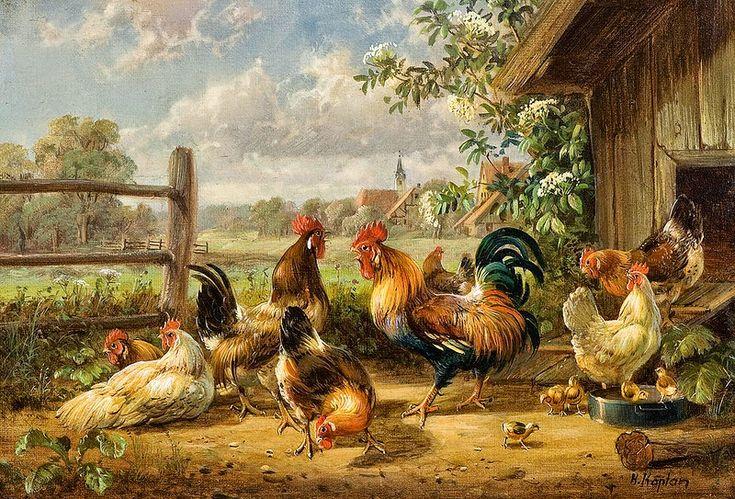 Мир искусства в живописи: Hubert Kaplan (1940 - ) - Баварские зарисовки