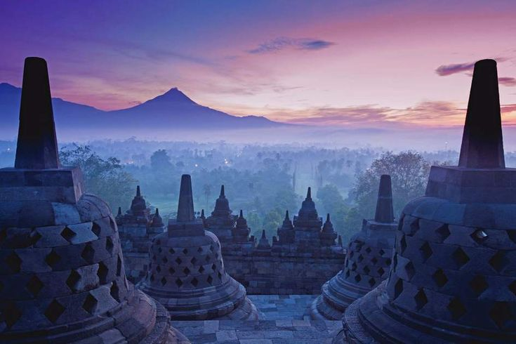 Borobudur Temple, Yogyakarta, Java, Indonesia. What a sunrise!
