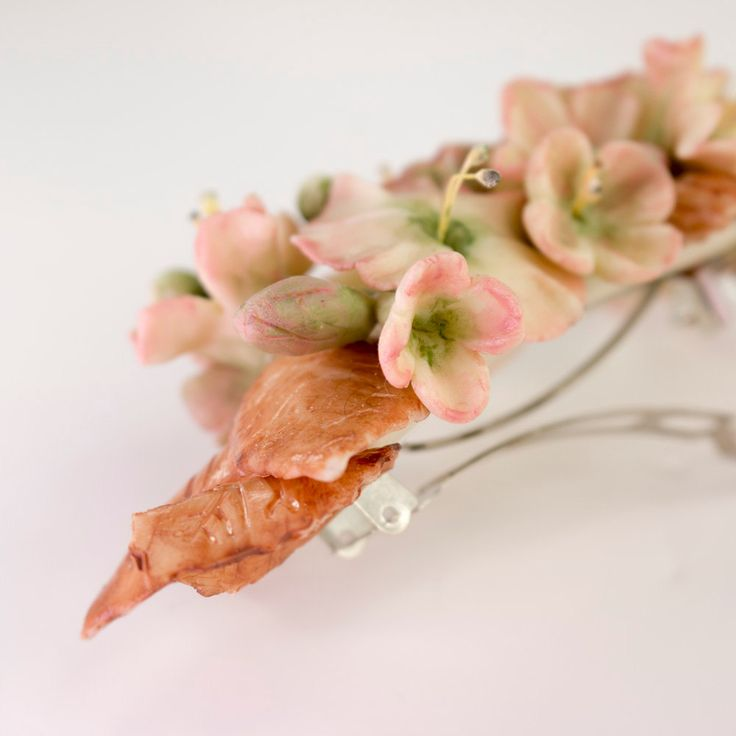 Pasador de flores en tonos tierra de OLGAALOR en Etsy