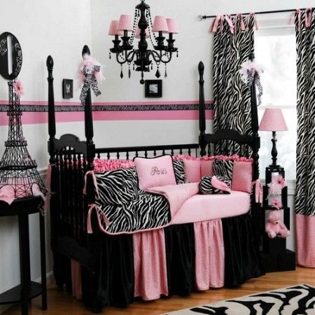 baby girl room pink and black: Little Girls, Ideas, Nurseries, Baby Girls, Zebras Prints, Baby Rooms, Girls Rooms, Kid, Girl Rooms