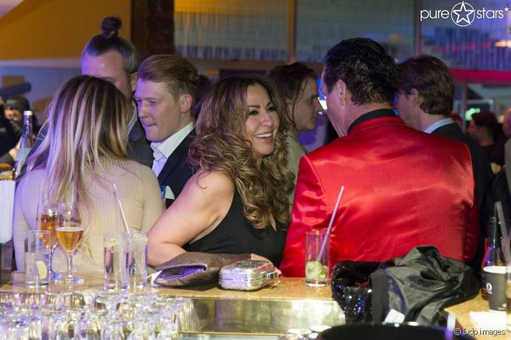 "Sophia Thomalla, Simone Thomalla und Till Lindemann am 7. April 2016 auf der ""Echo""-After-Show-Party."