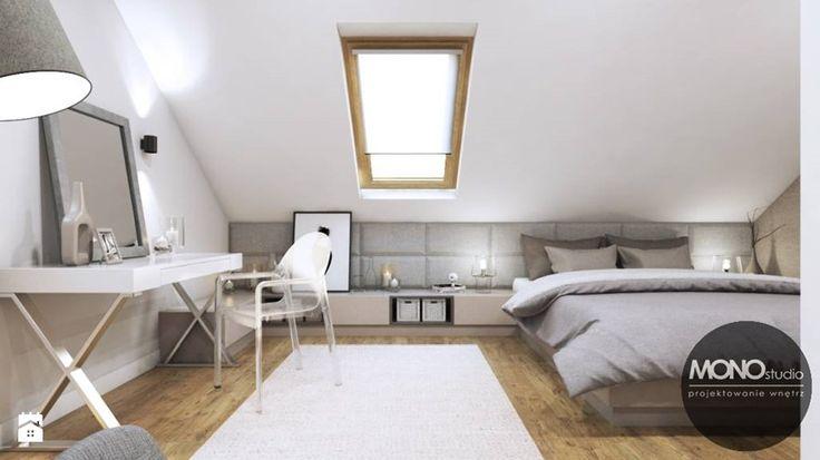 Ciepła, przytulna sypialnia - zdjęcie od MONOstudio