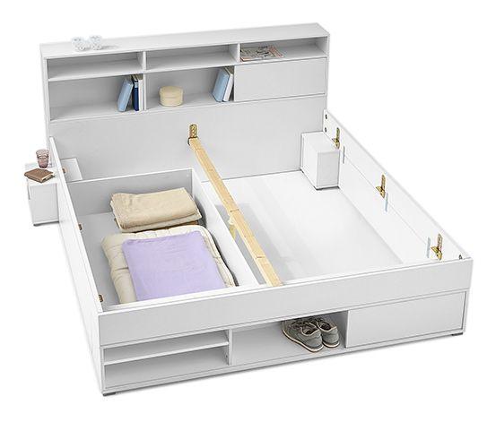 Die besten 25+ Bett mit stauraum tchibo Ideen auf Pinterest - feng shui schlafzimmer bett