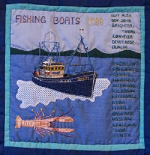 "This wonderful image listing the boats that fished out of Ullapool in 1988 was created by Sheila ""Boots"" MacLeod"