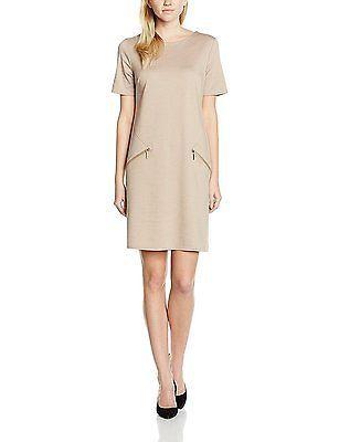 14, Beige (camel), Wallis Women's Zip Shift Regular Dresses NEW