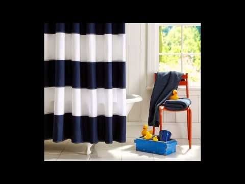 Navy curtains by droppingtimber.com