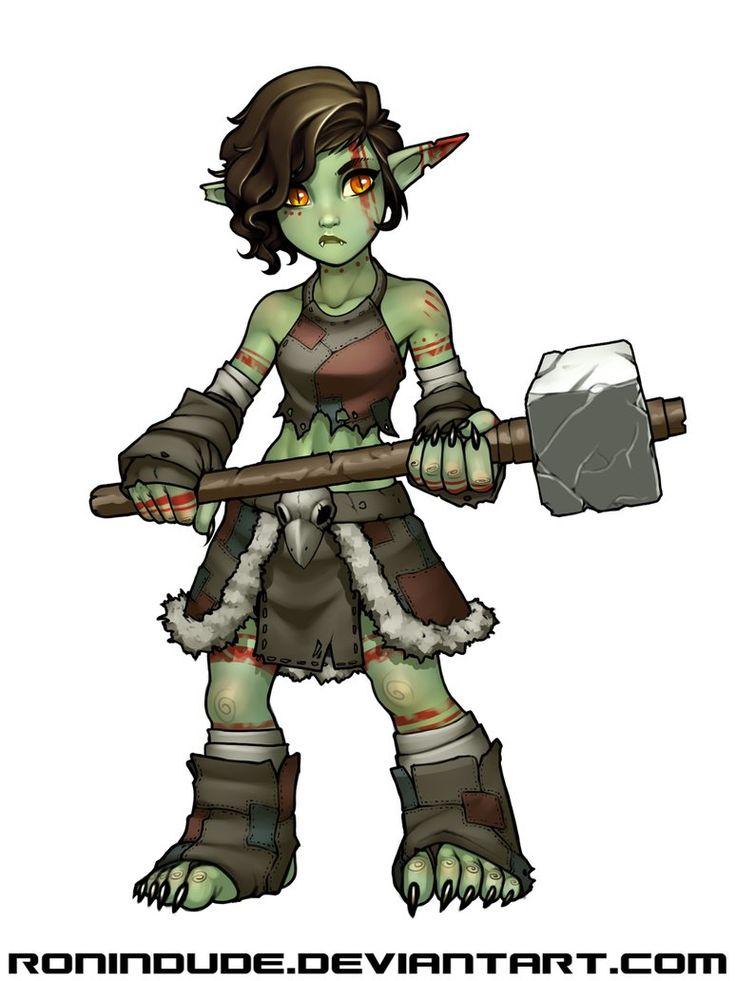 Piglet the Goblin Barbarian by RoninDude.deviantart.com on @DeviantArt