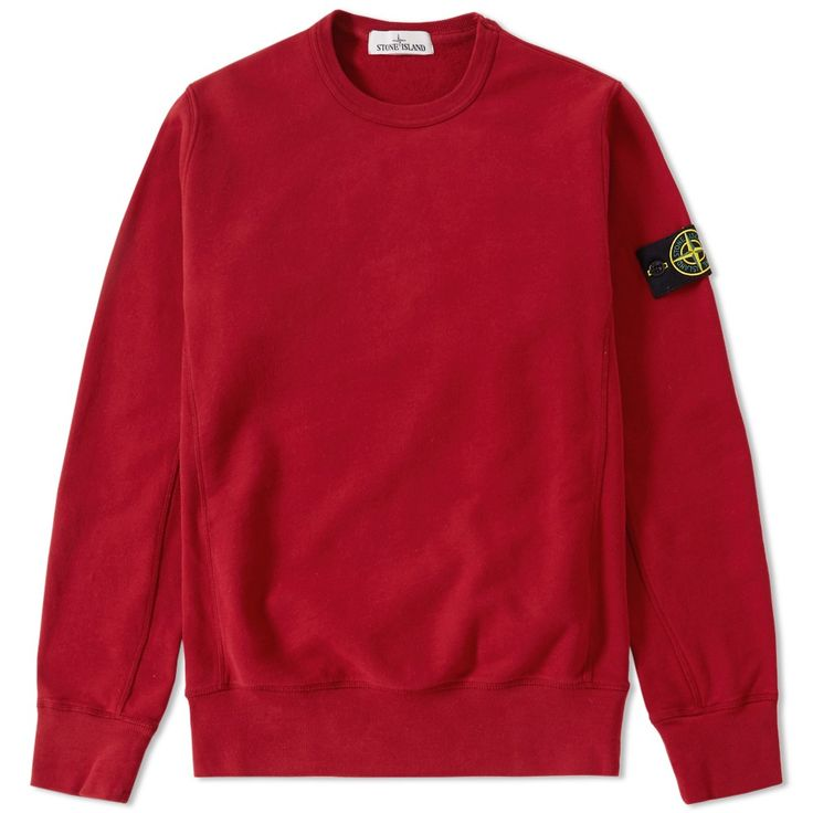 Stone Island Garment Dyed Heavyweight Crew Sweat (Red)