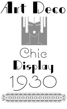 Art Deco Font Styles