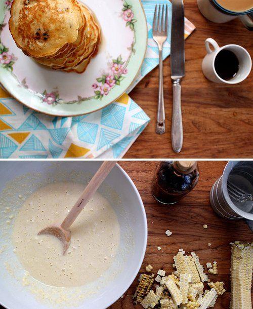 Sweet Corn Pancakes | Cooking Ideas | Pinterest