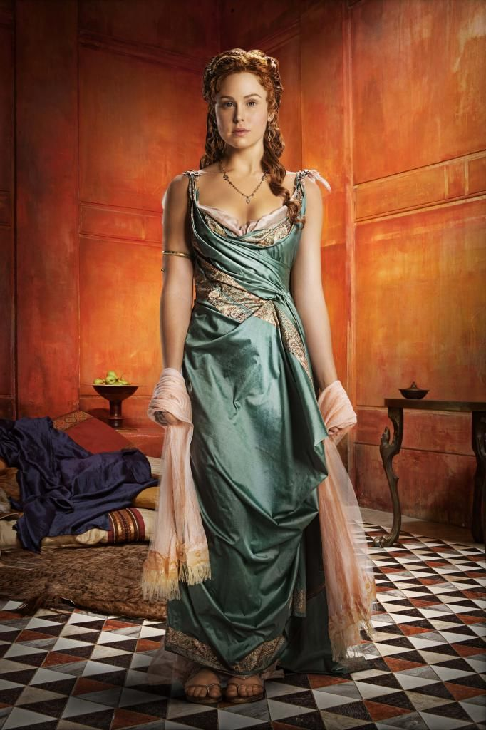 "Spartacus roman gown | like to figure out the pattern and ""the twist"""
