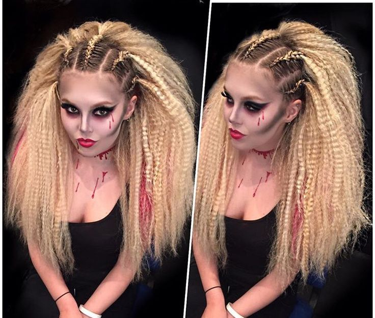 Sexy crimped hair