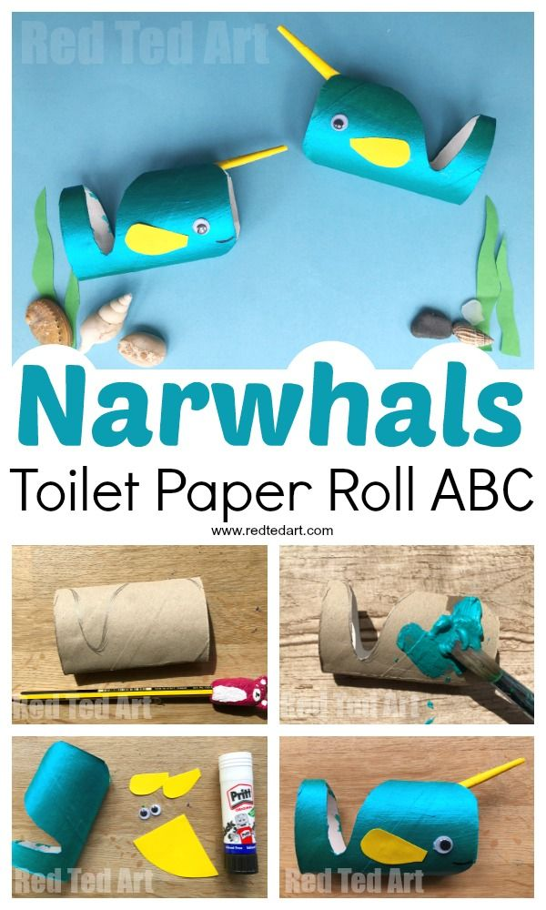 Toilet Paper Roll Narwhal Craft Red Ted Art Make Crafting With