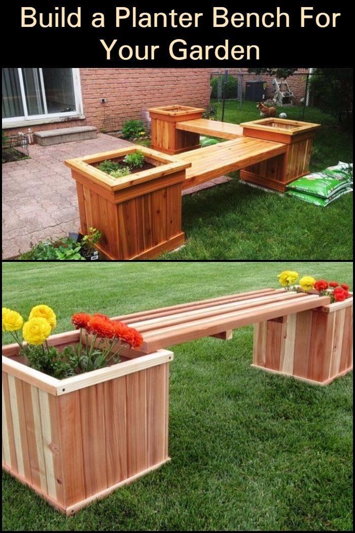 Build A Planter Bench For Your Garden Diy Planters Outdoor