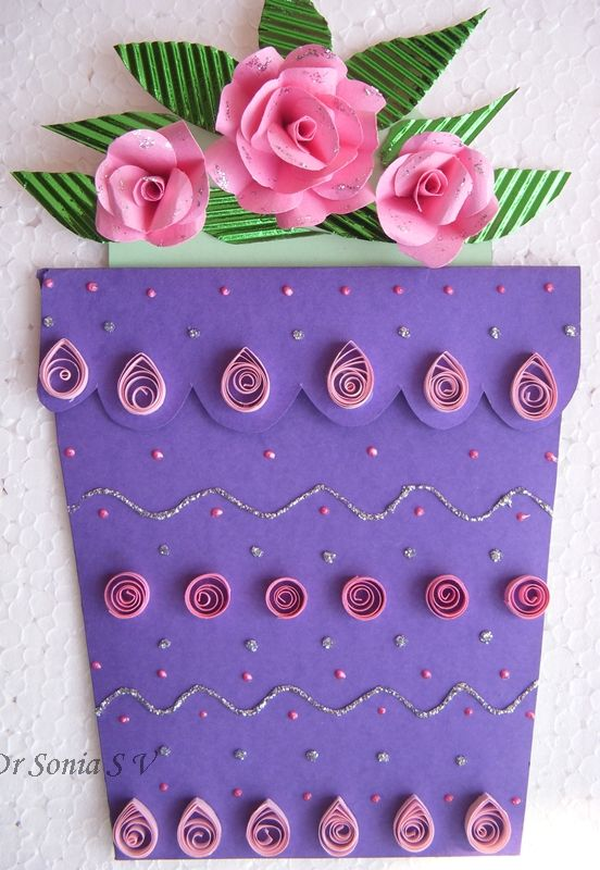Cards ,Crafts ,Kids Projects: Easy Heart Punch Rose Flower Tutorial