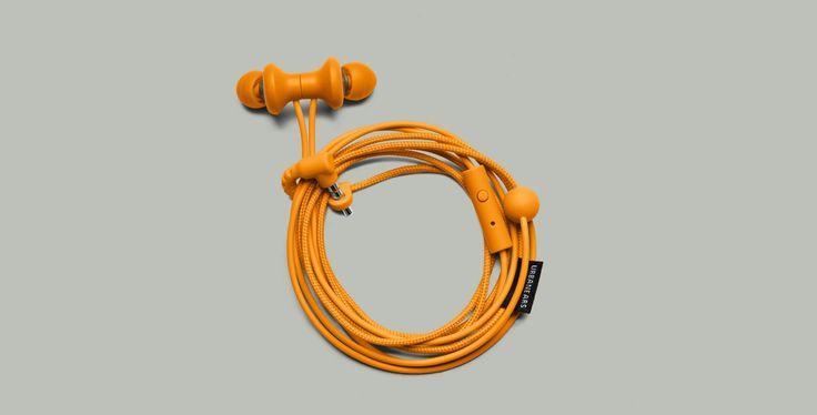 Urbanears Kransen Headphones in Bonfire Orange