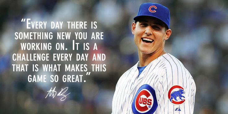 """""""Every day there is something new you are working on. It is a challenge every day and that is what makes this game so great."""" Well said, Rizzo! @cubsbaseball"""