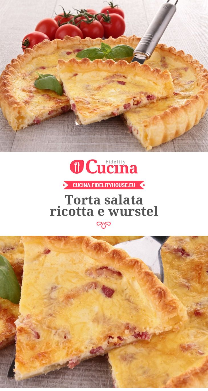 Torta salata #ricotta e #wurstel