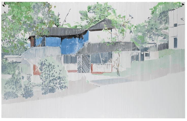 Hurvin Anderson | House / Oil on canvas Found on sothebys.com