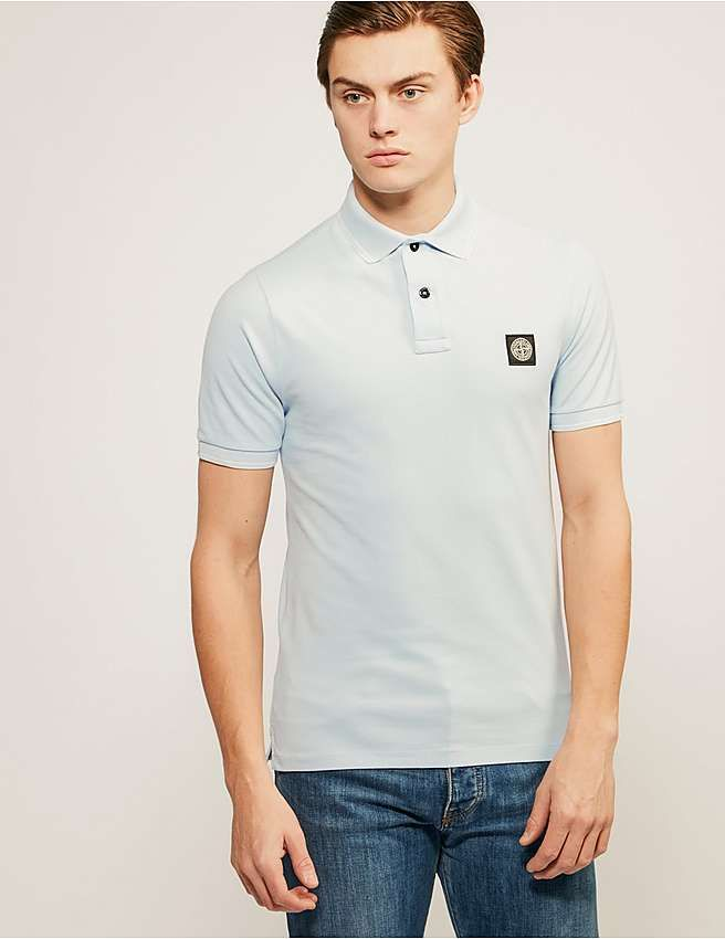 blue Stone Island Slim Fit Polo Shirt