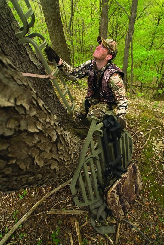 Use stealthy tactics to hang your stands or erect your ground blinds long before the hunting seasons actually open.
