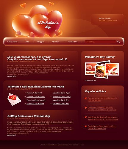 Valentine's Day Joomla Templates by Astra