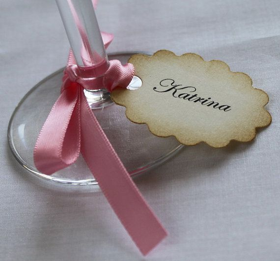 100 Custom Place Tags  Wedding Place Tags  by teatimeandroses, $120.00