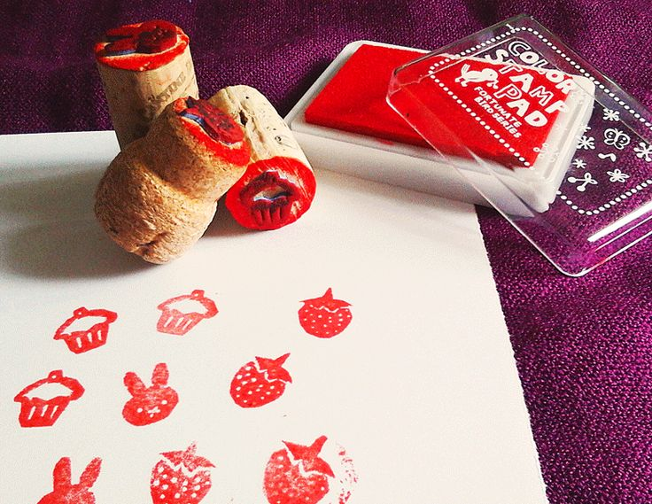 TUTORIAL: Super easy homemade stamps