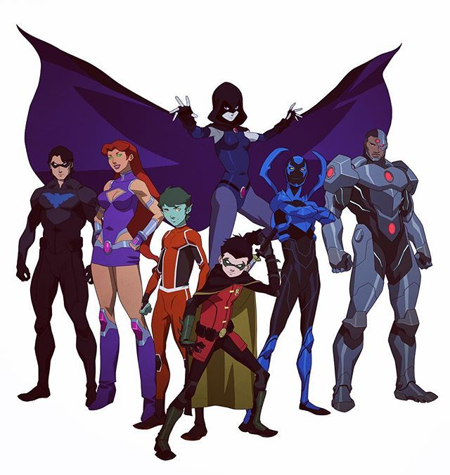 Teen Titans lineup from Justice League vs Teen Titans. Coming Spring 2016…