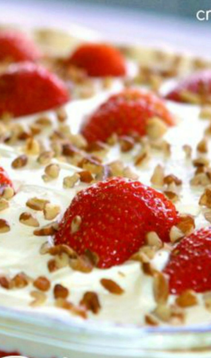 Strawberry Refrigerator Cake..starts w/strawberry cake mix~